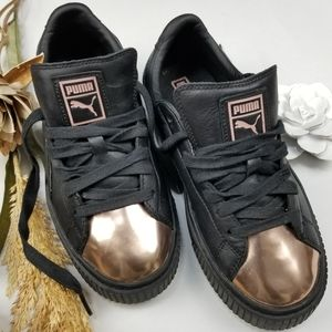 Puma Platform Sneakers Creepers Black Rose Gold